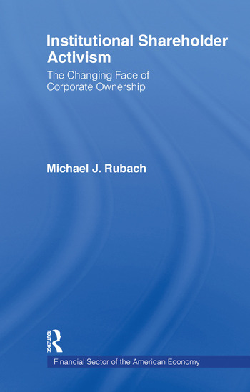The Changing Face of Corporate Ownership Do Institutional Owners Affect Firm Performance book cover