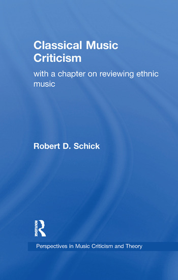 Classical Music Criticism book cover