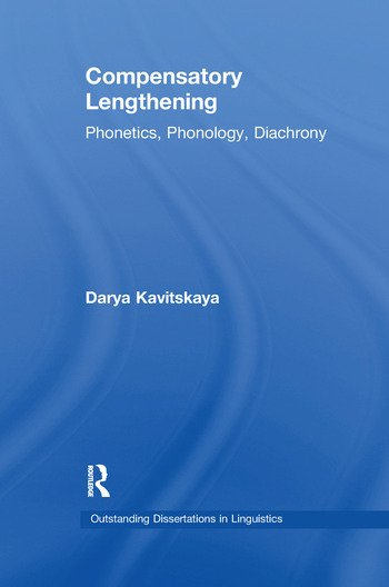 Compensatory Lengthening Phonetics, Phonology, Diachrony book cover