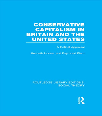 Conservative Capitalism in Britain and the United States A Critical Appraisal book cover