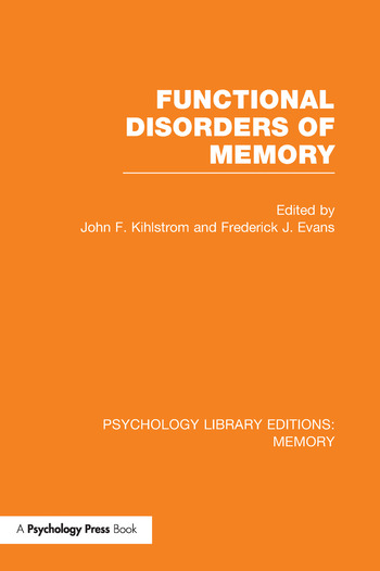 Functional Disorders of Memory (PLE: Memory) book cover
