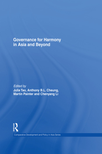 Governance for Harmony in Asia and Beyond book cover