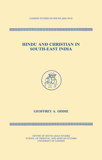 Hindu and Christian in South-East India book cover