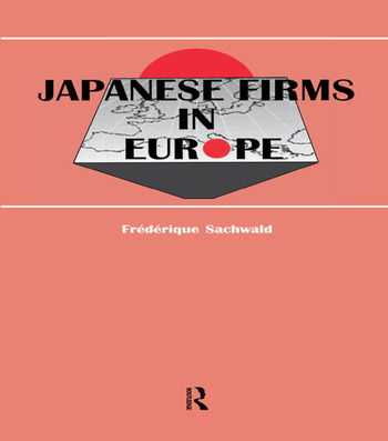 Japanese Firms in Europe A Global Perspective book cover