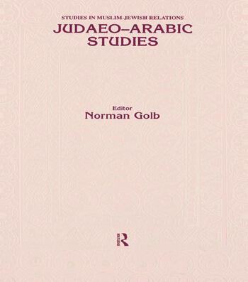 Judaeo Arabic Studies book cover