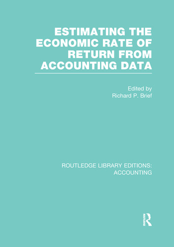 Estimating the Economic Rate of Return From Accounting Data (RLE Accounting) book cover