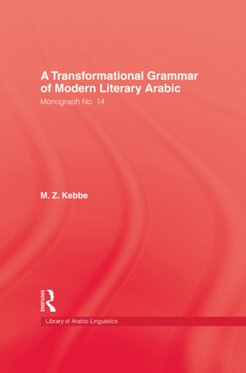 Transformational Grammar Of Modern Literary Arabic book cover