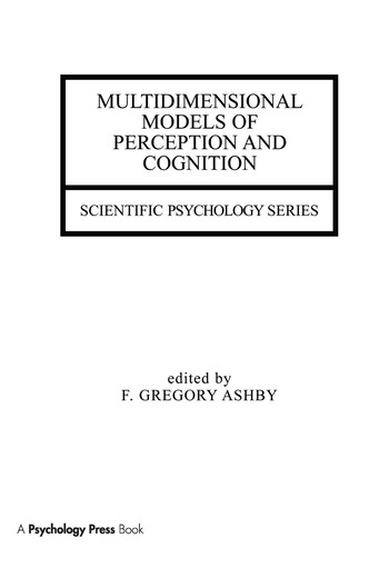 Multidimensional Models of Perception and Cognition book cover