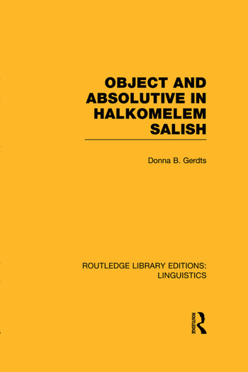 Object and Absolutive in Halkomelem Salish book cover