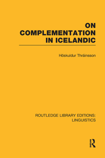 On Complementation in Icelandic book cover