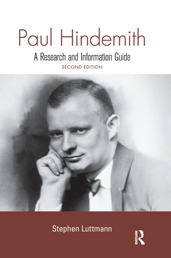 Paul Hindemith A Research and Information Guide book cover