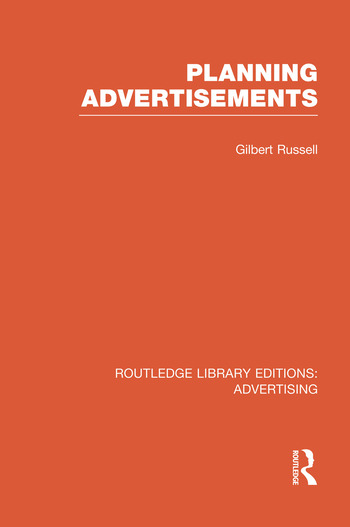 Planning Advertisements book cover