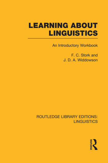 Learning about Linguistics book cover