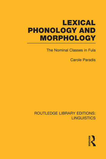 Lexical Phonology and Morphology book cover