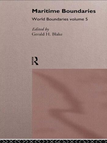 Maritime Boundaries World Boundaries Volume 5 book cover