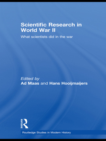 Scientific Research In World War II What scientists did in the war book cover