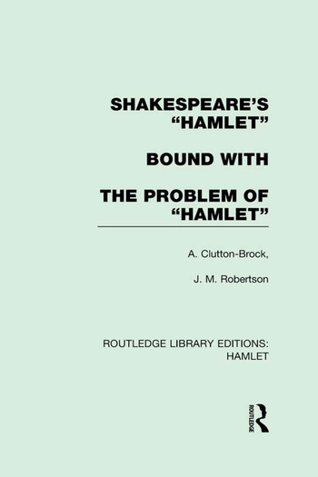 "Shakespeare's ""Hamlet"" bound with The Problem of Hamlet book cover"
