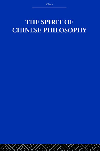 The Spirit of Chinese Philosophy book cover
