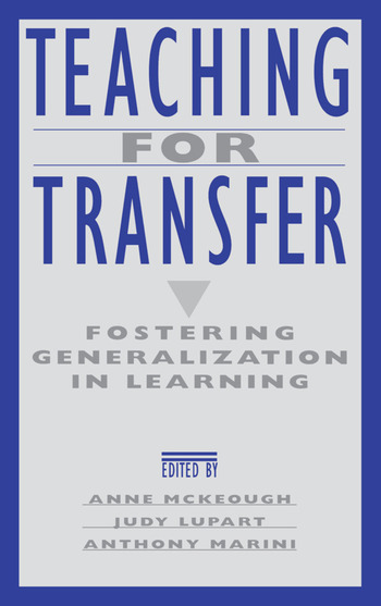Teaching for Transfer Fostering Generalization in Learning book cover