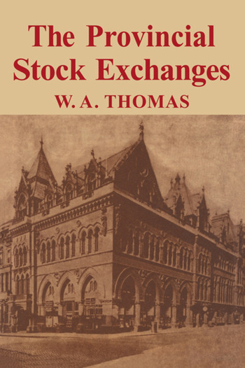 Provincial Stock Exchange book cover