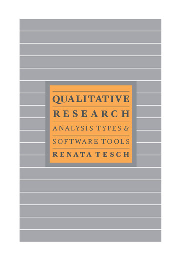 Qualitative Types:Analysis Typ book cover