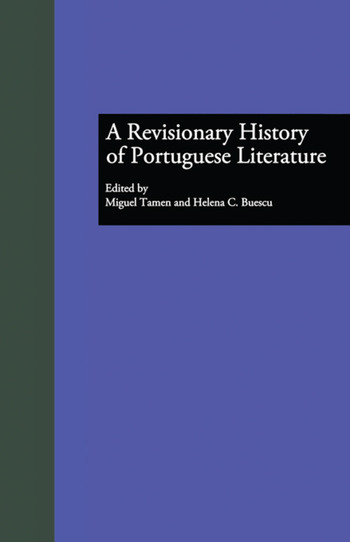 A Revisionary History of Portuguese Literature book cover
