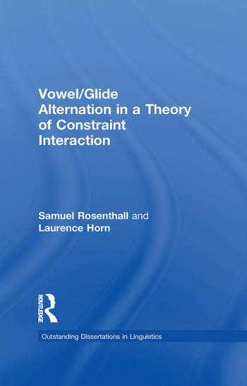 Vowel/Glide Alternation in a Theory of Constraint Interaction book cover