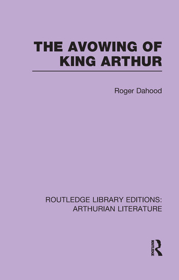 The Avowing of King Arthur book cover