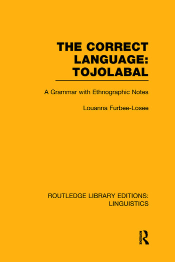 The Correct Language: Tojolabal book cover