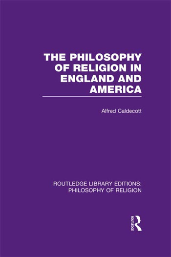 The Philosophy of Religion in England and America book cover
