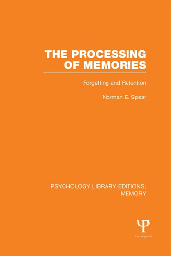 The Processing of Memories (PLE: Memory) Forgetting and Retention book cover