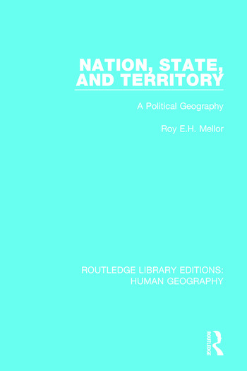 Nation, State and Territory A Political Geography book cover