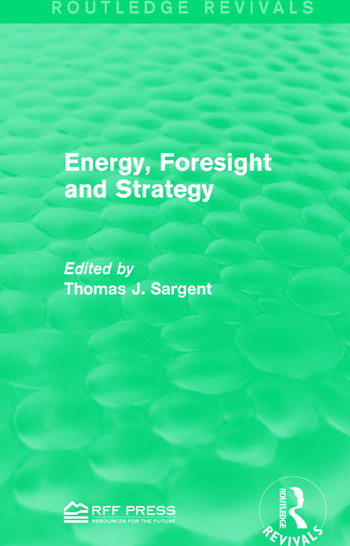 Energy, Foresight and Strategy book cover