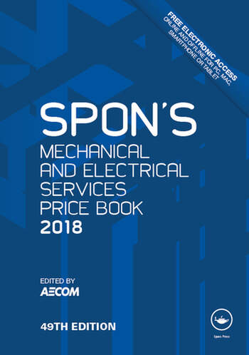 Spon's Mechanical and Electrical Services Price Book 2018 book cover
