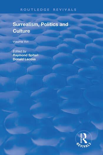 Surrealism, Politics and Culture book cover