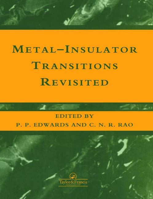 The Metal-Nonmetal Transition Revisited book cover