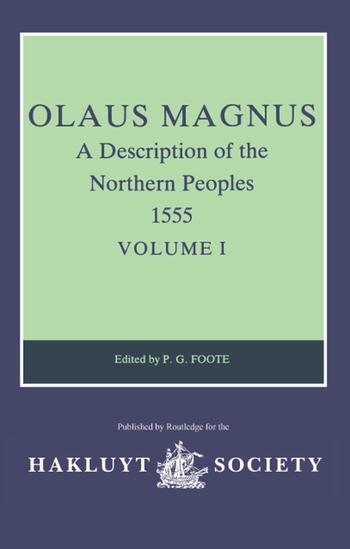 Olaus Magnus, A Description of the Northern Peoples, 1555 Volume I book cover