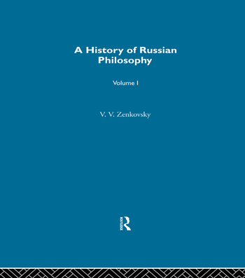 History Russian Philosophy V1 book cover