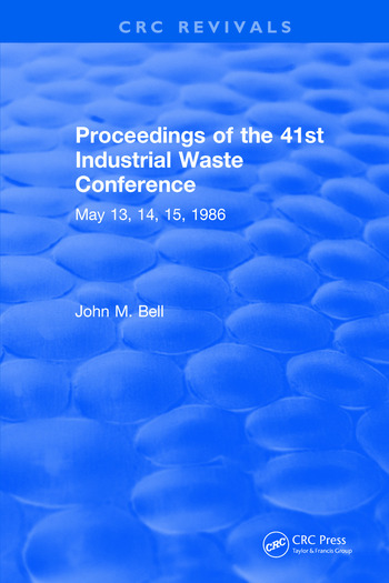 Proceedings of the 41st Industrial Waste Conference May 1986, Purdue University book cover