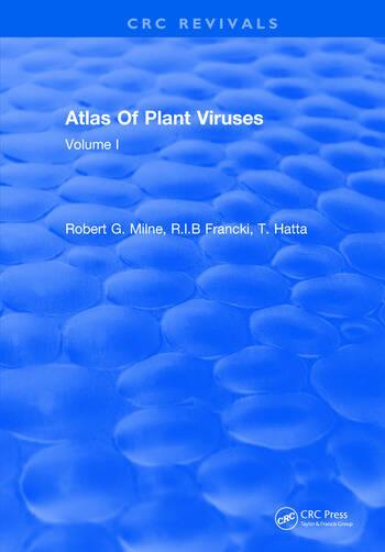 Atlas Of Plant Viruses Volume I book cover
