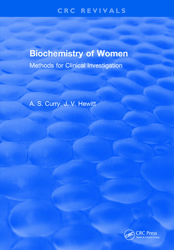 Biochemistry of Women Methods For Clinical Investigation book cover