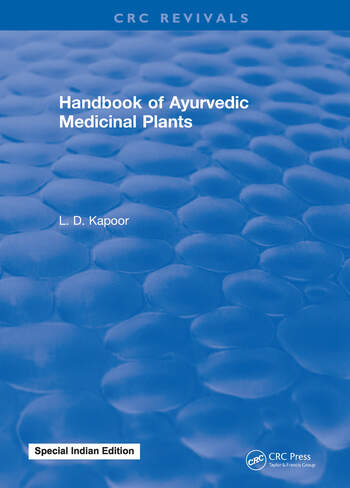 CRC Handbook of Ayurvedic Medicinal Plants book cover