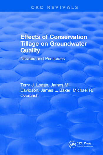 Effects Conservation Tillage On Ground Water Quality Nitrates and Pesticides book cover