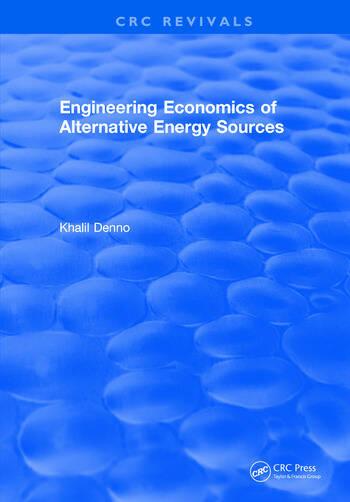 Engineering Economics of Alternative Energy Sources book cover
