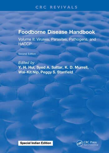 Foodborne Disease Handbook, Second Edition Volume II: Viruses, Parasites, Pathogens, and HACCP book cover