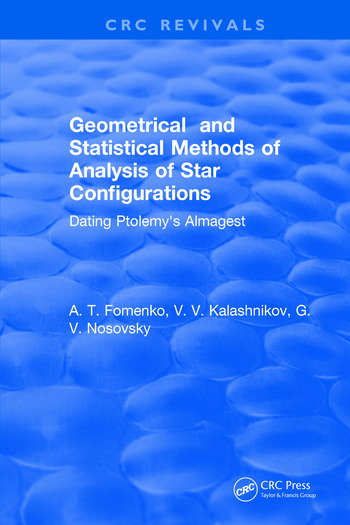 Geometrical and Statistical Methods of Analysis of Star Configurations Dating Ptolemy's Almagest book cover