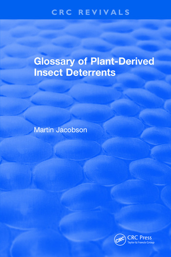 Glossary Of Plant Derived Insect Deterrents book cover