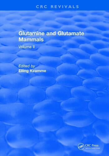 Glutamine and Glutamate Mammals Volume II book cover