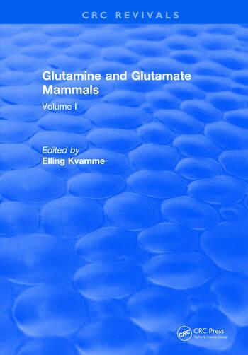 Glutamine and Glutamate Mammals Volume I book cover