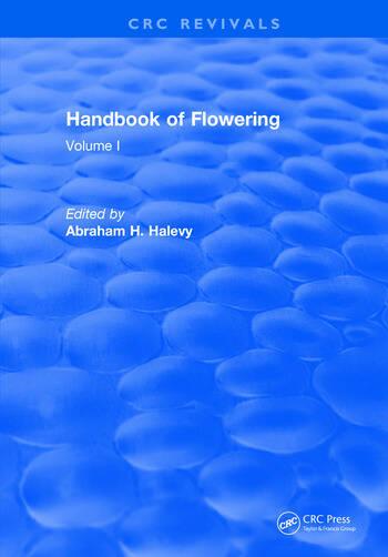 Handbook of Flowering Volume I book cover